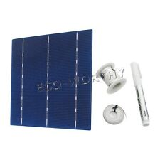 6x6 solar cells kit multiple w/ bus tabbing wire & flux pen for DIY solar panel
