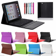 Wireless Bluetooth Keyboard Case Leather Cover For Apple New iPad 2 3rd 4th Gen
