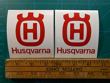 """ONE PAIR Husqvarna Logo 3"""" 4"""" 5"""" Decal Sticker Motorcycle Chainsaw Trimmer Case"""