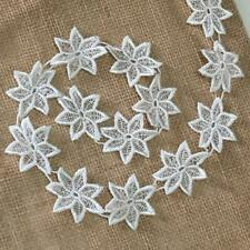 Spinning Daisy Flower Venice Lace Trim, 1.5 Inches Wide, 2 Yard Lot