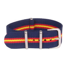 Multi Color Navy Red Stripe18mm 20mm 22mm Nato Nylon Watch Strap Wristwatch Band