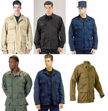 Rothco Military Poly/Cotton Twill Solid Long Sleeve BDU Tactical Fatigue Shirt