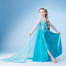 Disney Frozen Il regno di ghiaccio Princess Elsa Dress Fancy Party Costume Tulle