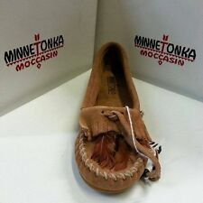 Minnetonka Moccasins 467 Women's Feather Kilty Taupe Suede