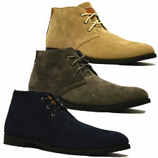 Mens New Suede Style Casual Retro Mod Chukka Lace Dessert Ankle Boots Shoes Size