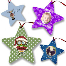 Personalised CHRISTMAS STAR DECORATION - CHOOSE YOUR DESIGN