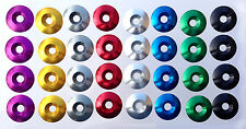 Aluminum Anodized Washers  33mm O.D. x 8mm I.D.  Race Kart Seat Mounting  4-PACK