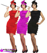 ADULT LADIES FRINGE FLAPPER JAZZ GIRLS FANCY PARTY DRESS 20S 30S COSTUME 10-14