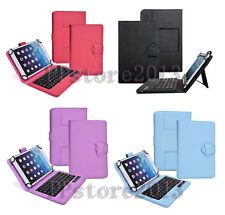 2 in 1 Detachable Wireless Bluetooth Keyboard Leather Case For Various Tablet PC