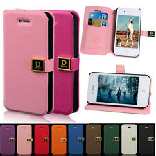 Wallet Card Holder PU Leather Flip Case Cover for iPhone 4s/5s Samung Galaxy S4
