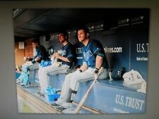 TAMPA BAY RAYS BEN ZOBRIST AND EVAN LONGORIA PHOTO