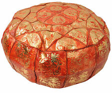 Egyptian Morrocan Handmade Genuine Leather Ottoman Pouf