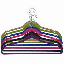 120-Pack: Non-Slip Velvet Hangers with Notches Sunbeam