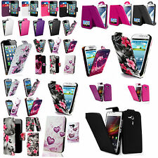 patterned plain Pu leather Flip or wallet case cover for various mobile phones