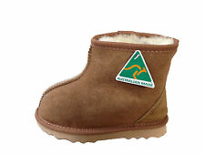 Australian Made Genuine Sheepskin Kids Mini Ankle UGG Boots Chestnut Colour