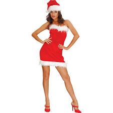 CHRISTMAS SEXY MISS #SANTA CLAUS FANCY DRESS ADULT OUTFIT FOR LADIES