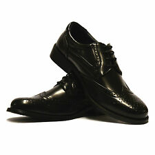 Mens New Lace Up Casual Formal Office Work Wing Tip Brogues Dress Shoes UK Size