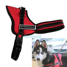 Comfortable Medium Large Size Dog Adjustable Soft Chest Body Harness Red 3 Size
