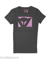 Dainese Lady Color T-Shirt Black/Neon Pink