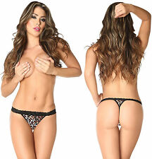 Sexy Locker Women's G-String Thong Animal Prints Wide Waistband S M L Hot
