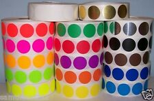 """1000 1"""" CIRCLE COLOR CODED DOT LABEL STICKER 17 Colors"""