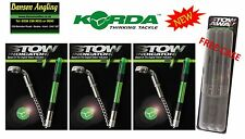 3 x Korda NEW VERSION Stow Indicators Stow Bobbins + FREE CASE *All Colours*