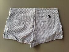 New Womans Abercrombie & Fitch Shorts Size 00 0 2 4 6 8 10 $44 Light Blue Stripe