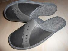 Mens Comfortable Warm Slippers Shoes Sandal Handmade From Poland Scuffs Gray