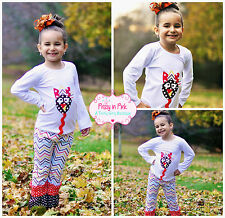 NEW Boutique Girl Fall Thanksgiving Turkey Ruffle Pant Outfit 12M-6 ON SALE