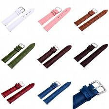 Mixed Colors Genuine Leather Wrist Watch Band Pin Buckle 12/14/16/18/20/22/24 mm