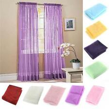 Nice Pure Sheer Voile Drape Panel Scarf Door Window Colorful Curtains New C70