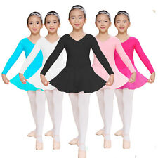 New Girls Kids Leotard Chiffon Skirt Ballet Party Dance Dress Dancewear Costume