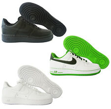 Scarpe Nike Air Force 1 One Low  Uomo Sneakers Bianco Pelle Nuovo Trainer Shoes