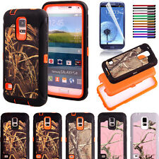 Tree Camo Defender Case With Build in screen protector For Samsung Galaxy S5