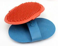 Fashion Blue Oval Cat Dog Pet Cleaning Massage Grooming Glove Bath Brush Comb