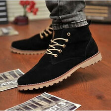 NEW British Men's Casual Suede Lace Ankle Boots High Top Loafers Sneakers Shoes