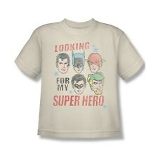 Justice League Looking For My Super Hero Youth T-Shirt (Ages 8-12)