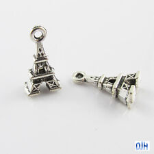Bulk Mini Eiffel Tower Charm Pendant 16x9mm Select Qty 5/10/20