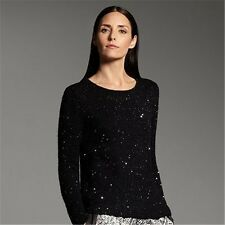 Narciso Rodriguez for DesigNation Sequin Sweater Black or Silver XS, M