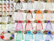 Organza Candy Bag 10-20pcs Jewelry Wedding Party Favor Gift Sheer Pouch Sml/Lrg