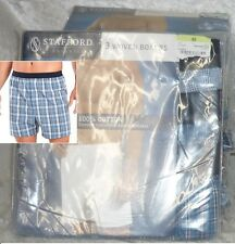 Stafford 3 woven Boxers cotton comfort waist men's size 30 34 36 38 40 44 NEW