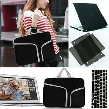 New Laptop Sleeve Case Carry Bag+Rubberized Hard case+Keyboard cover For Macbook