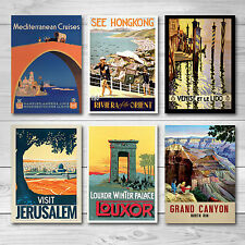 Vintage Retro Travel Poster - A4 - Great quality -  BUY 3 GET 2 FREE