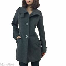 NEW Kristen Blake Womens Wool Black Brown Long Winter Dress Coat Jacket S M L XL