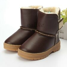Winter Snow Boots Children Waterproof Boys Girls Cotton Lined Shoes For Kids New