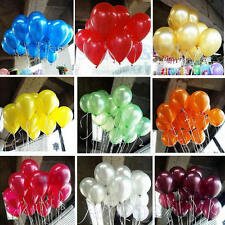 "100 x 10"" Colorful Pearl Latex Balloon Celebration Party Wedding Birthday Decor"