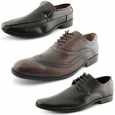 New Mens Low Heel Smart Formal Office Work Party Dressy Shoes UK Sizes 7-12