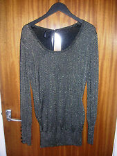 Brand new Fenchurch Kimie black and gold womans top