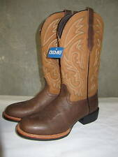 ACME AC224 Brown Roper Leather Western Boots Double H   Size 7 EE