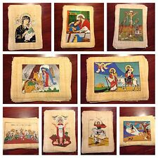 "Christian Catholic Orthodox painting on a papyrus (Egyptian handmade) 9.5""x 13"""